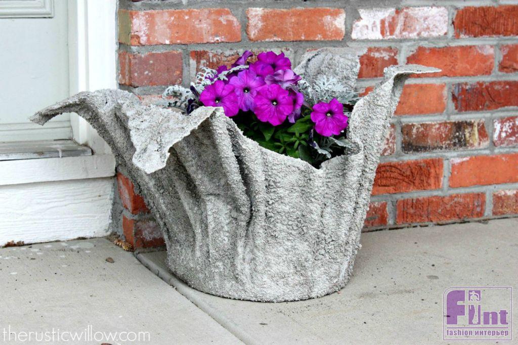 Кашпо и вазоны для сада своими руками 97