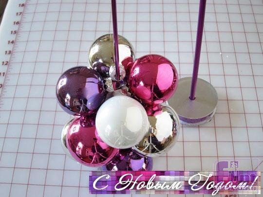 Новогодняя игрушка своими руками из новогодних шаров