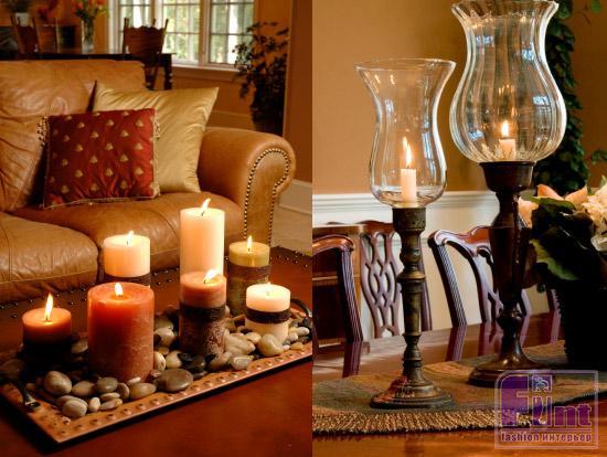 Картинки по запросу интерьер со свечами