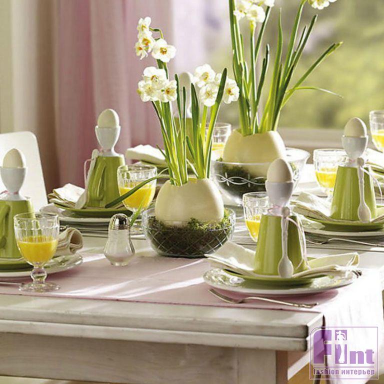 Как украсить весенний стол фото