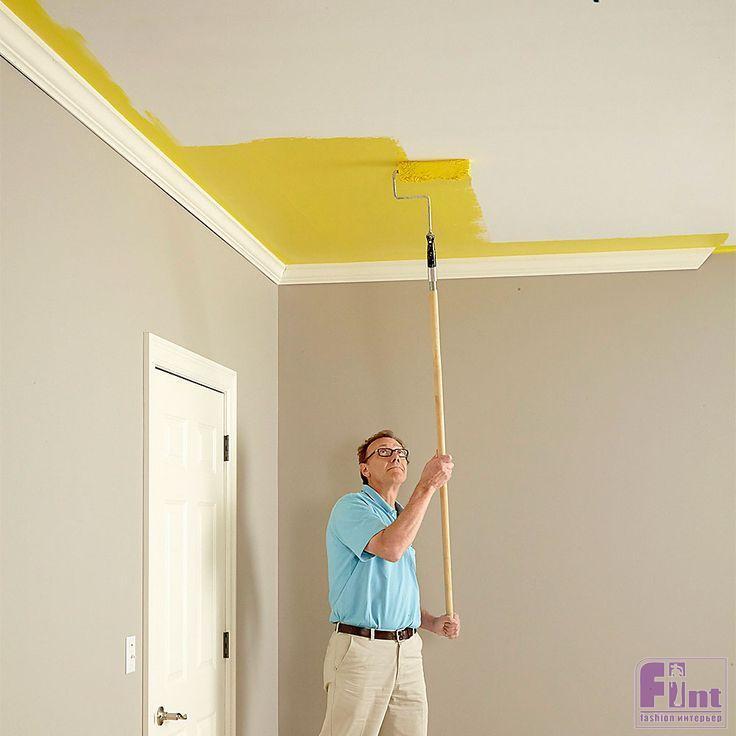 Покраска потолка краской