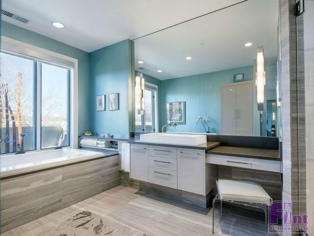 покраска стен в ванной комнате дизайн фото 5