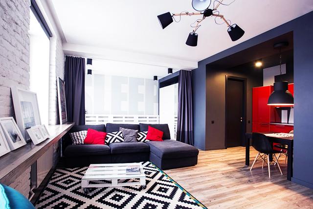 Как из квартиры в сталинском доме сделать стильную студию для молодой семьи