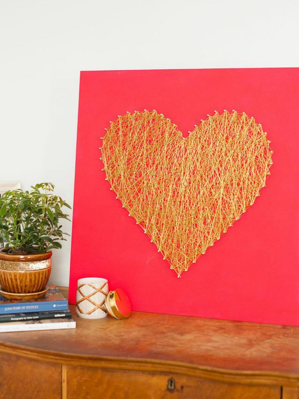 Мастер-класс: сердце из золотых нитей