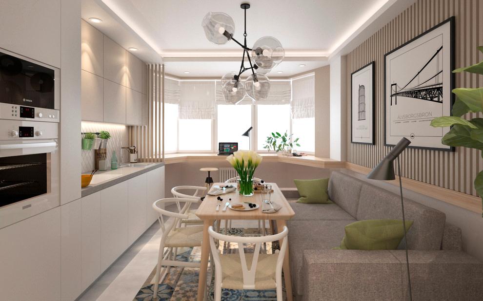 Стильный дизайн без перепланировки в двухкомнатной квартире в Подмосковье