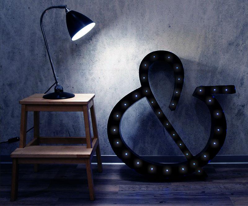Объёмные световые буквы своими руками: романтика бара в вашей квартире