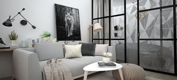 Квартира в бело-серой гамме: минимум цветов, максимум эстетики