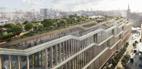 330-метровый «горизонтальный небоскрёб»: как будет выглядеть лондонский офис Google (фото)