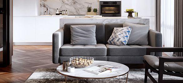 Натуральные материалы и стиль минимализм в интерьере небольшой квартиры