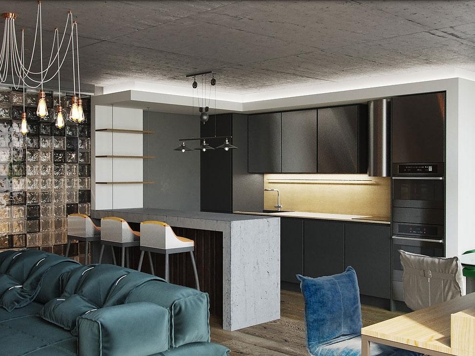 Светлая брутальность: как правильно зонировать квартиру в стиле лофт