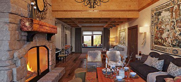 Загородный дом в стиле альпийского шале в Подмосковье