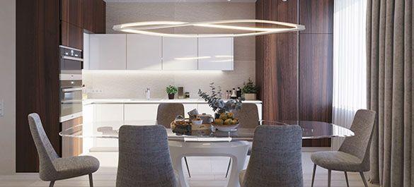 Светлый и функциональный интерьер в современном стиле