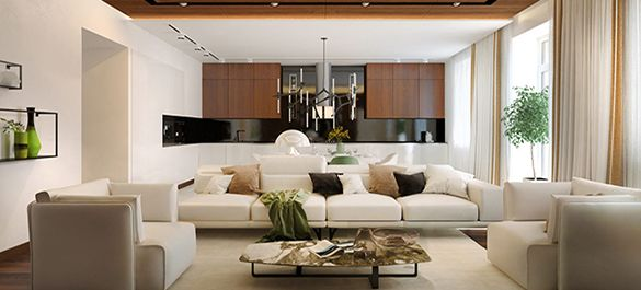 ЭКО интерьер в двухуровневых жилых апартаментах