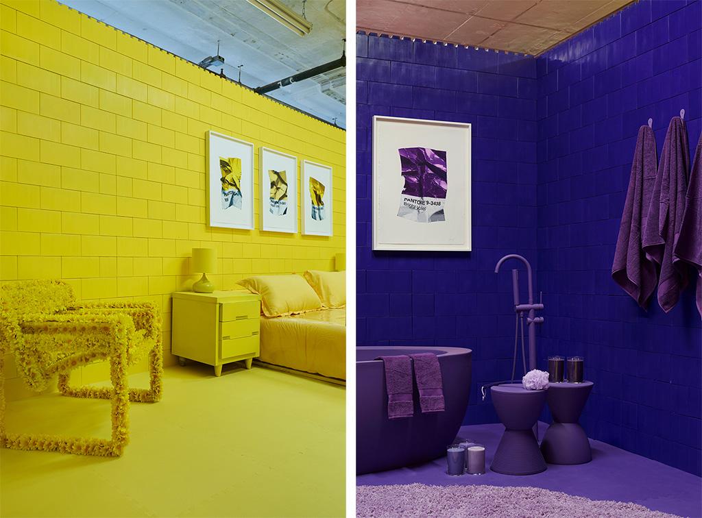 Нью-йоркская художница создала инсталляцию из семи монохромных комнат