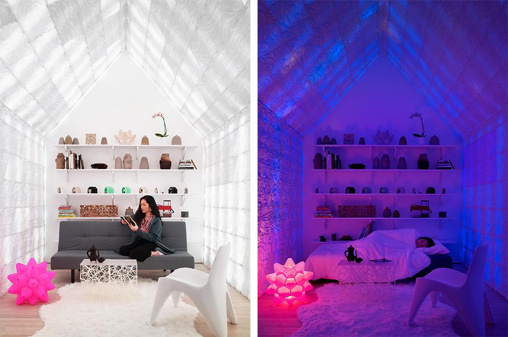 Дизайнеры из Калифорнии распечатали очаровательный садовый домик на 3D-принтере