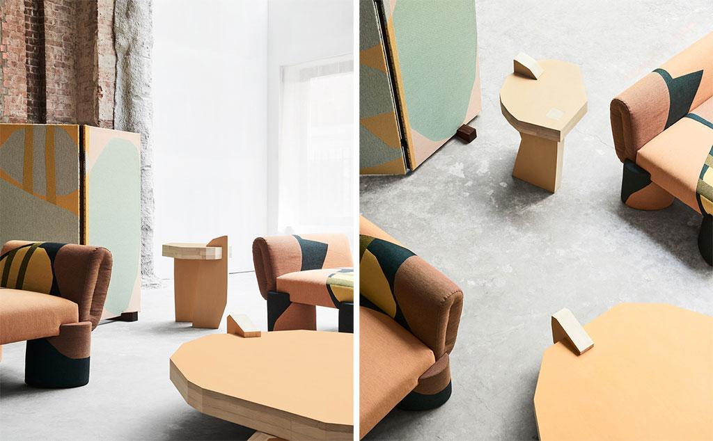 Итальянский архитектор придумал абстрактную коллекцию мебели и текстиля