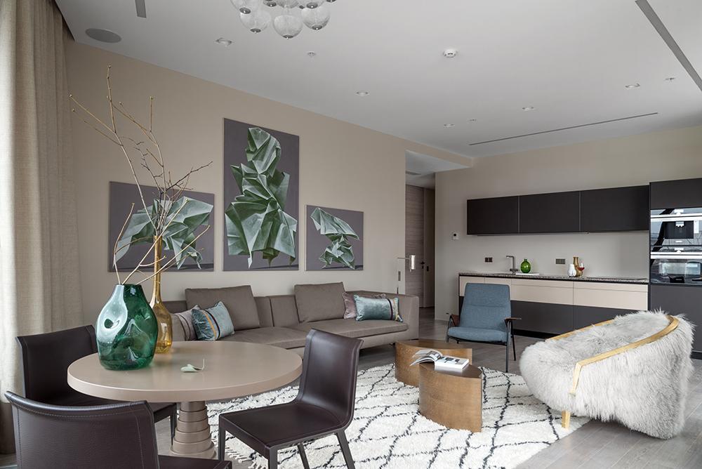 Апартаменты на Пречистенской набережной в стиле минимализм