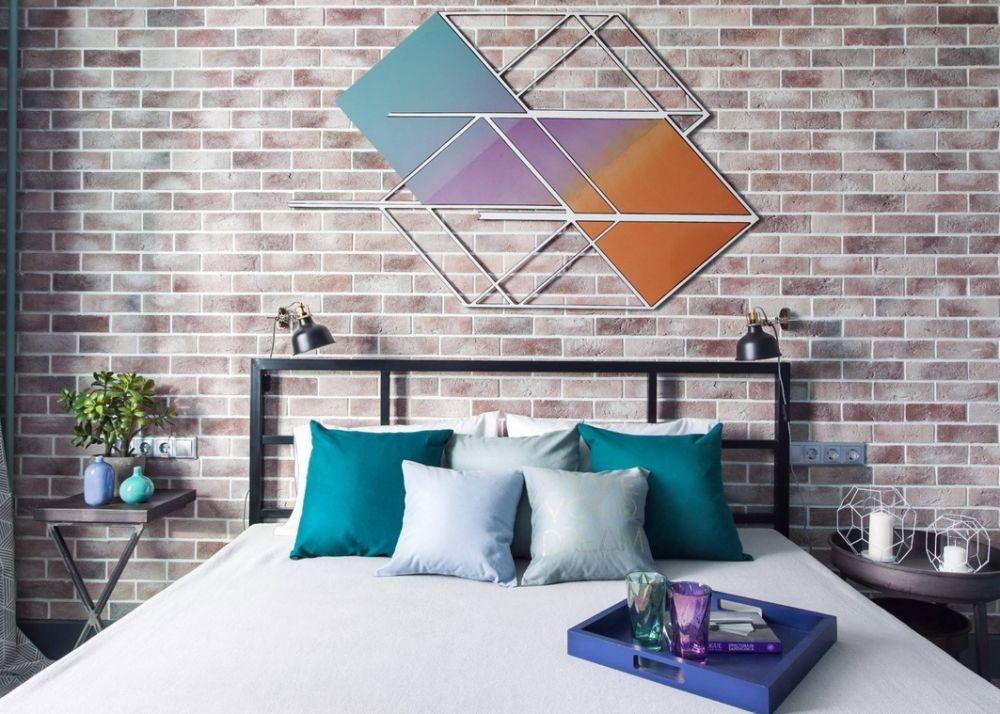 Дизайн интерьера двухкомнатной квартиры для молодой творческой личности