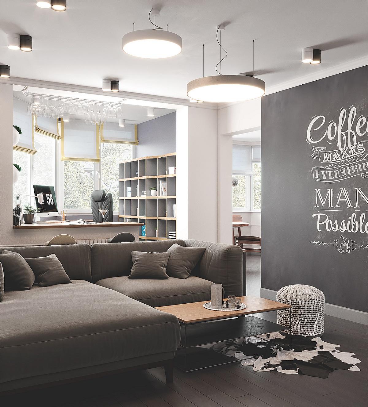 Скандинавский интерьер квартиры в московском типовом панельном доме