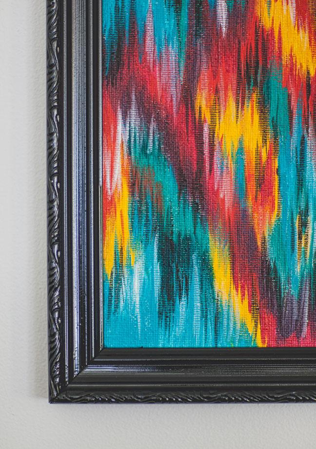 Потрясающая картина в стиле текстильной техники икат своими руками