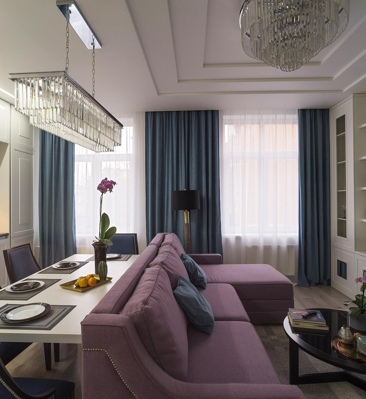 Классический дизайн интерьера квартиры для сдачи в аренду
