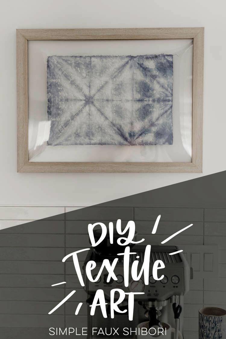 Настенное панно в уникальной текстильной технике шибори