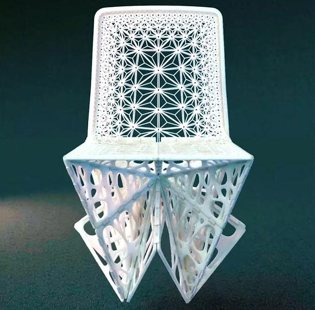 Складной стул, напечатанный на принтере, от французского дизайнера Патрика Жуэна (фото, видео)
