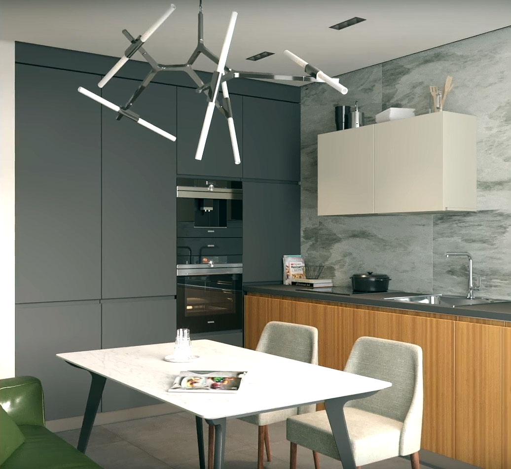 Комфортный интерьер в стиле минимализм со скандинавской цветовой гаммой (фото, видео)