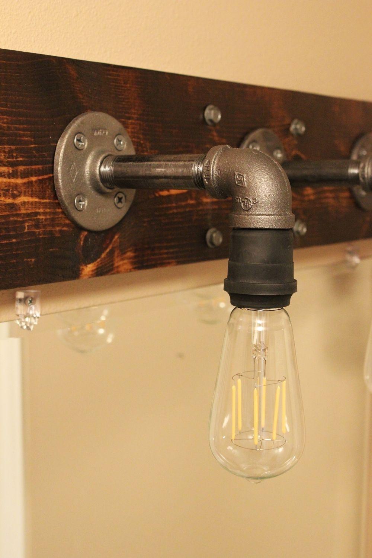 Потрясающий светильник в индустриальном стиле для ванной комнаты или прихожей своими руками