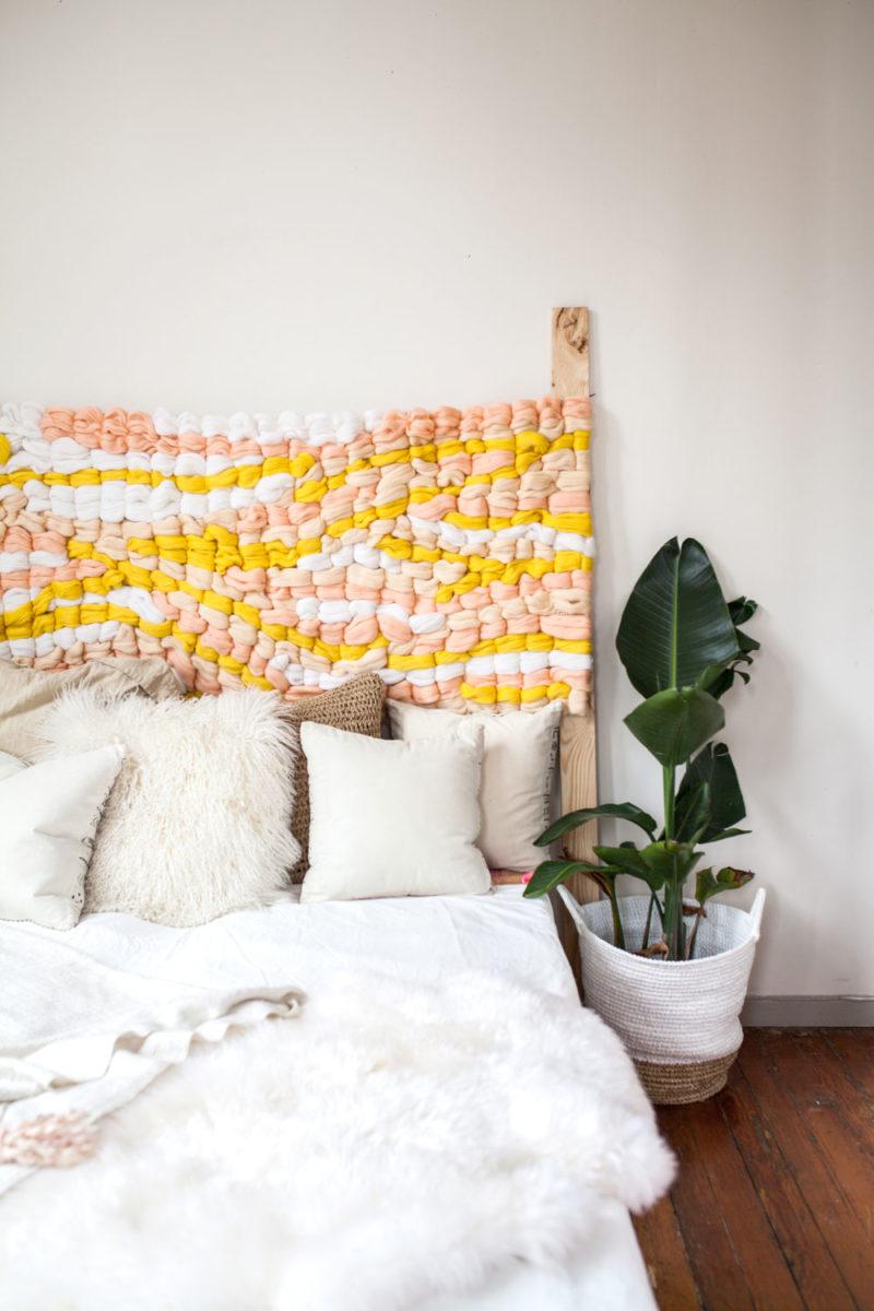 Как сделать плетёное изголовье кровати своими руками (мастер-класс)