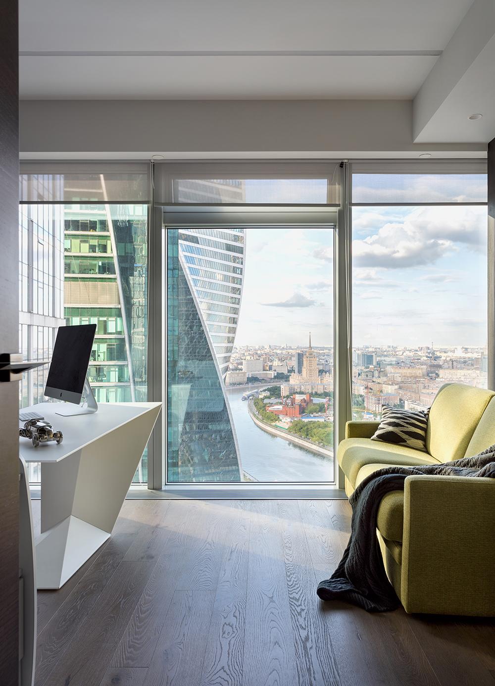 Апартаменты в Москва-Сити с панорамными окнами