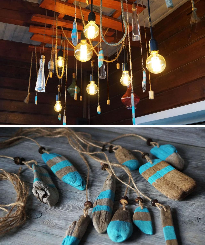 Превращаем обычные морские или речные деревяшки в необычный элемент декора