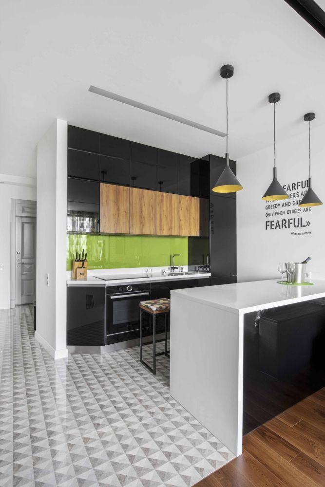 Современный стиль в интерьере небольшой квартиры для делового человека