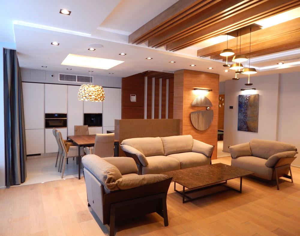 Светлый интерьер квартиры в современном стиле в Подмосковье