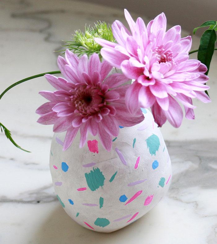 Ваза для цветов к 8 марта своими руками