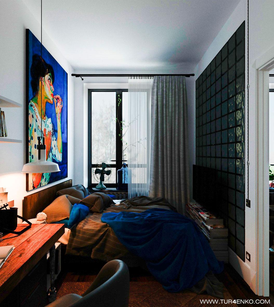 Скандинавский интерьер с винтажными мотивами в небольшой квартире