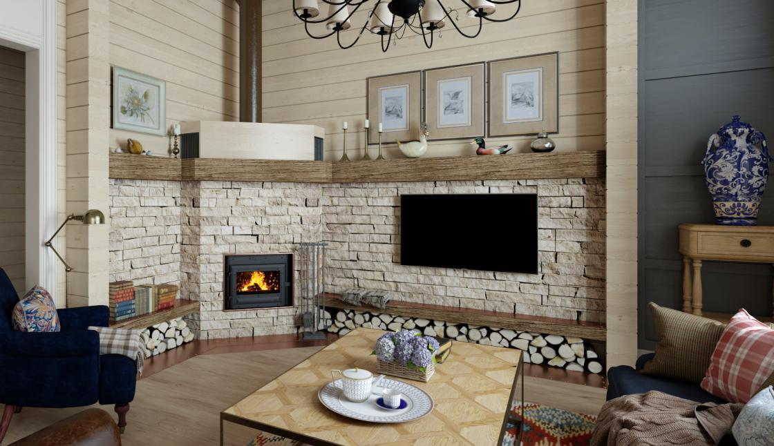 Английский стиль для уральских широт: стильный интерьер загородного деревянного дома