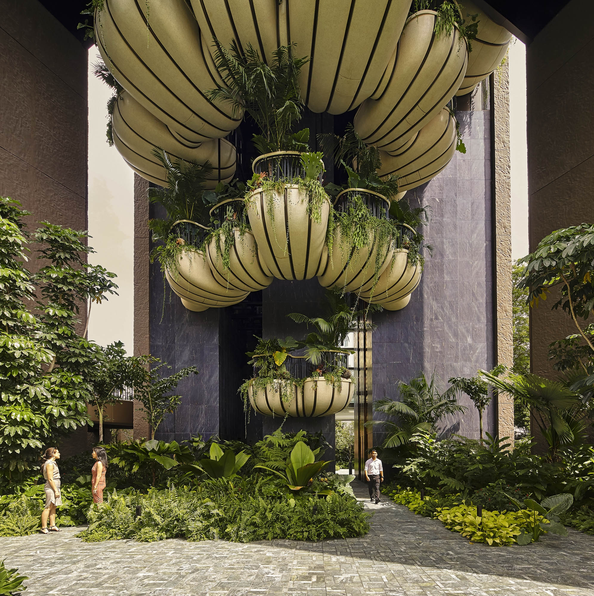 Вертикальный сад Томаса Хезервика в Сингапуре