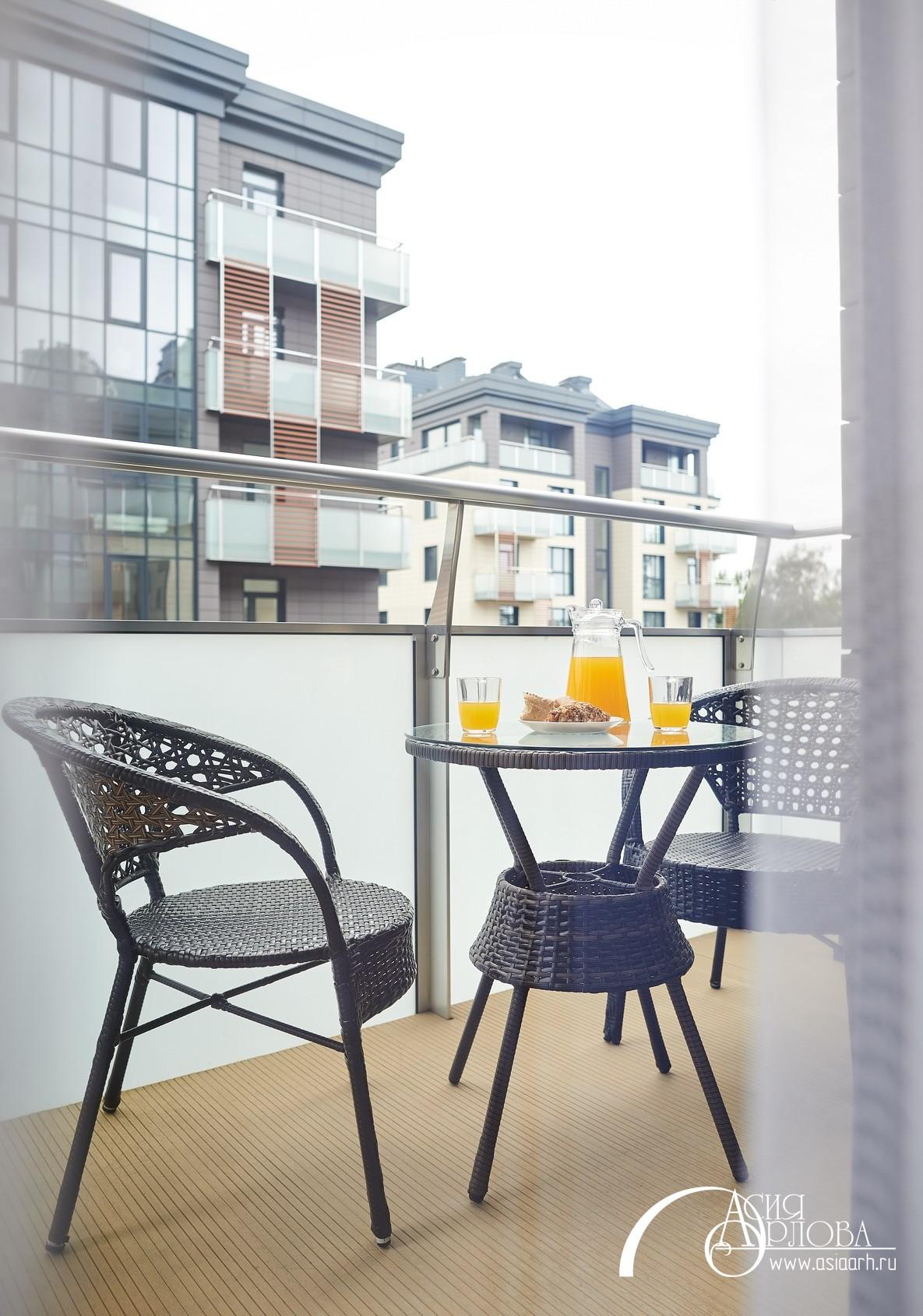 Дизайн интерьера квартира с видом на Балтику
