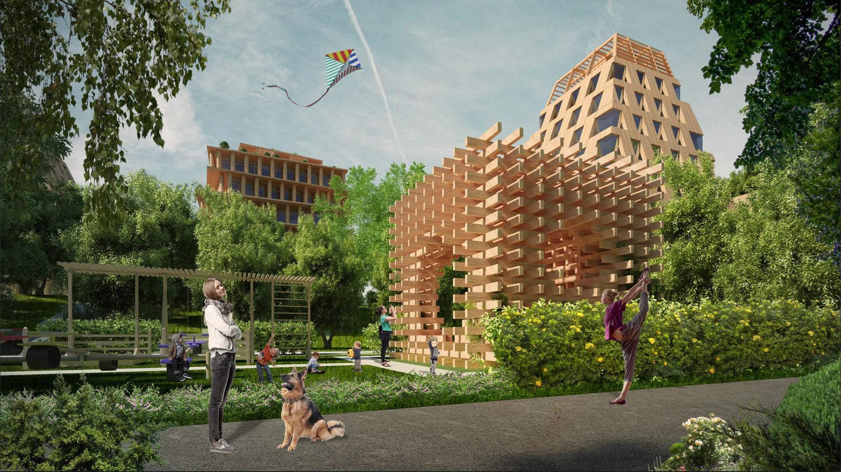 В Москве построят первый многоэтажный дом из дерева