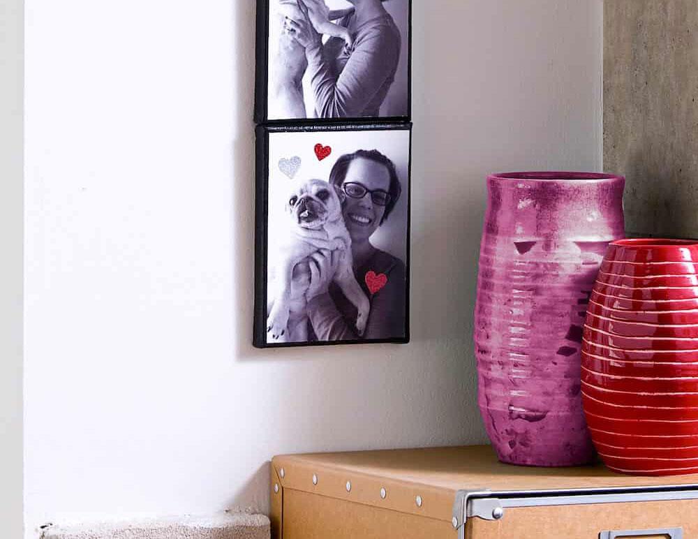 Миниатюрное стильное настенное панно в виде фотостенда своими руками
