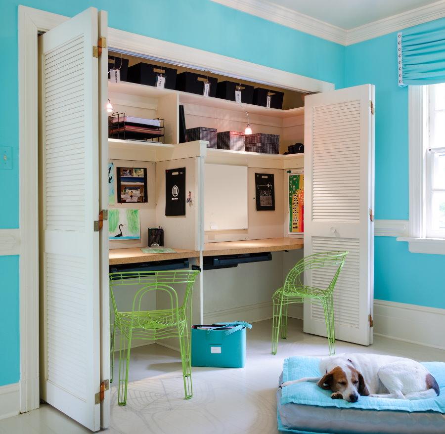 Как организовать пространство для двух школьников в одной комнате