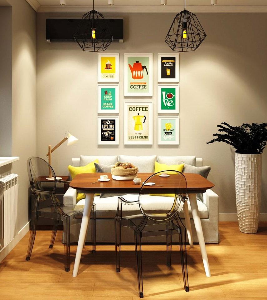 Как украсить стену над обеденным столом: советы дизайнеров по интерьерам
