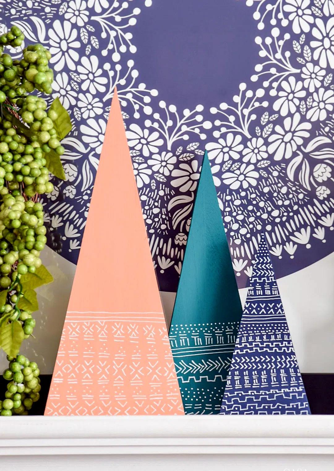 Необычные новогодние ёлочки в скандинавском стиле из дерева