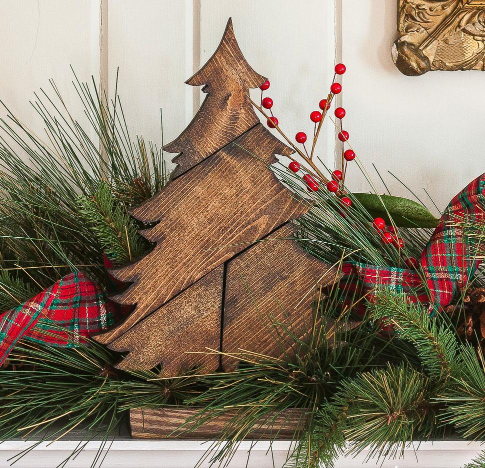 Новогодняя ёлочка-пазл в скандинавском ЭКО стиле из дерева