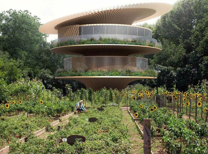 «Дом-подсолнух» в Умбрии по проекту Коичи Такада