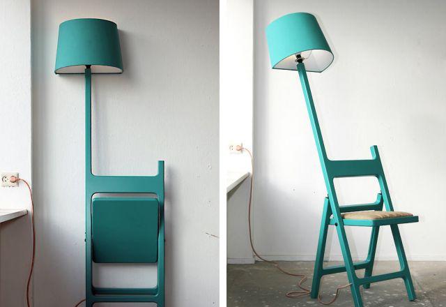 Два в одном: стул и лампа!