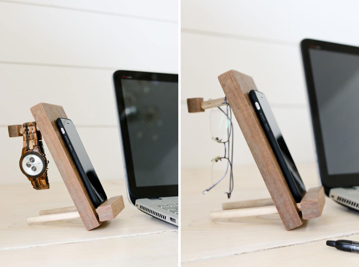 2 в 1: стильная и функциональная подставка для мобильного телефона и держатель аксессуаров