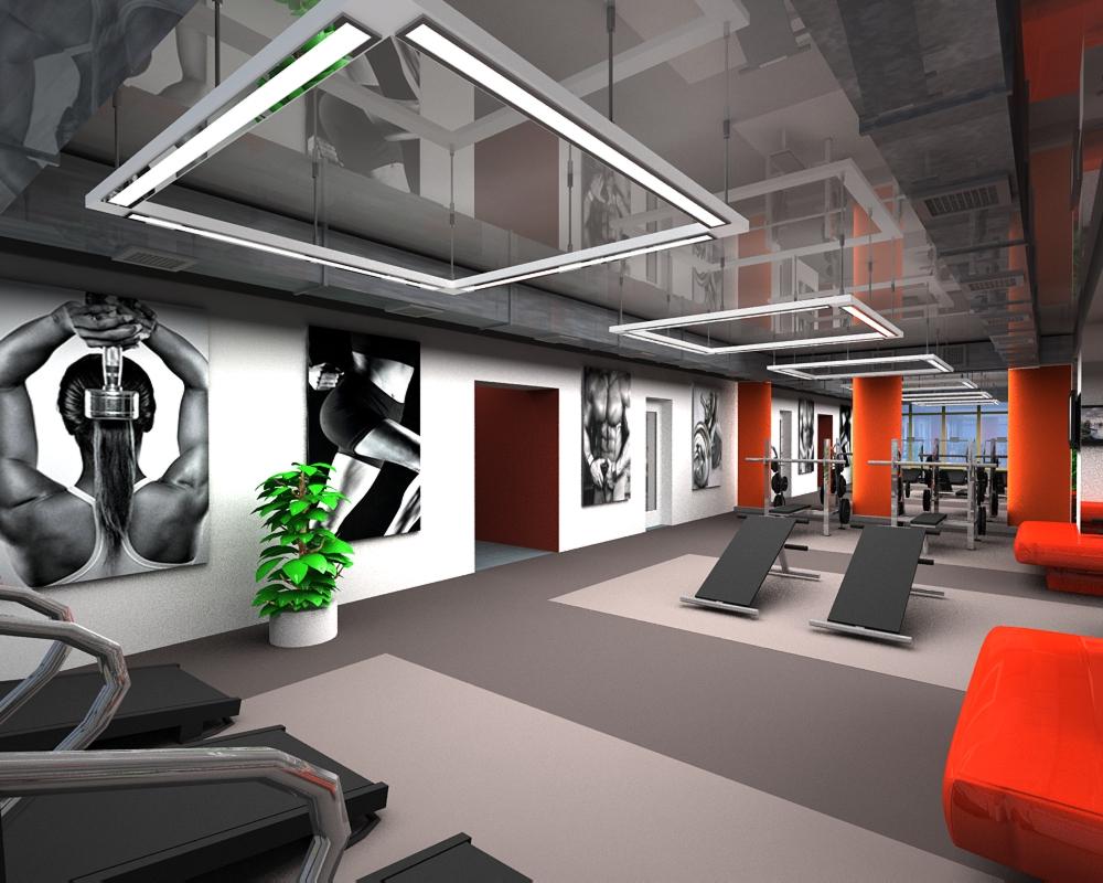 Дизайнер Юлия Исакова и ее проект фитнес-зала