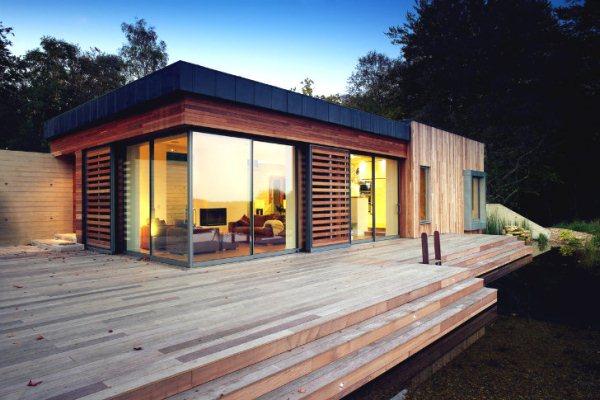 Эко-дом с живой крышей